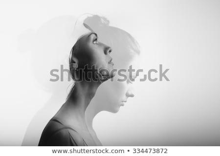 Dobrar exposição retrato mulher jovem abstrato efeito Foto stock © dariazu