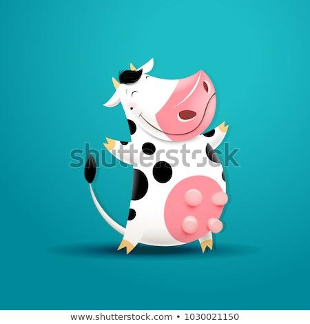 funny cow cartoon dancing Stock photo © jawa123