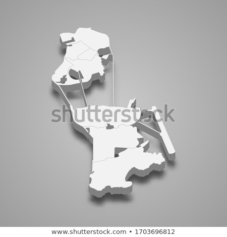 Isometric map of Macau detailed vector illustration Stock photo © tkacchuk