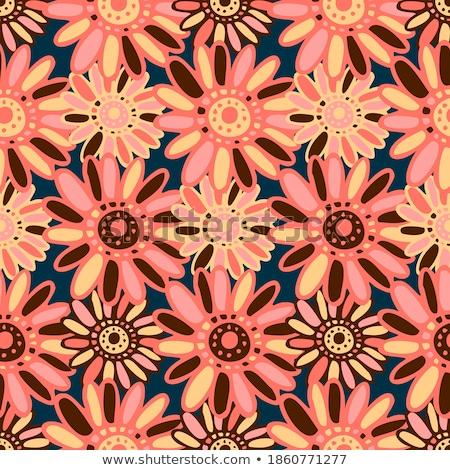 бесшовный вектора шаблон красочный Летние цветы Сток-фото © adrian_n