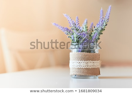 A lavender vase with flowers Stock photo © bluering