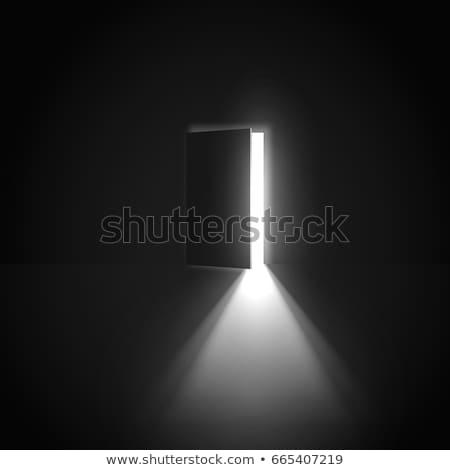 Puerta abierta oscuro luz casa puerta éxito Foto stock © goir