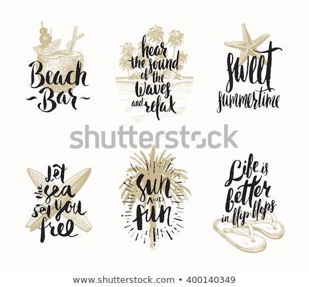 шрифт дизайна слово кокосового иллюстрация фон Сток-фото © bluering