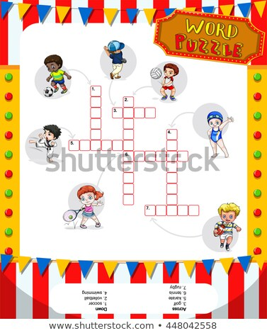 word puzzle game with many sports stock photo © bluering