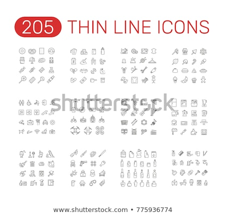 navigatie · lijn · icon · vector · geïsoleerd · witte - stockfoto © rastudio