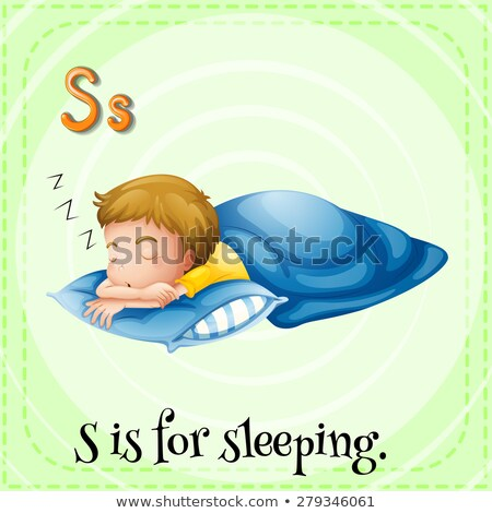 Flashcard letter S is for sleeping Stock photo © bluering