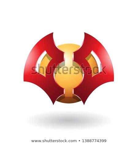 futurisztikus · alakú · absztrakt · gömb · penge · ikon - stock fotó © cidepix