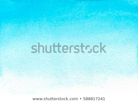 ombre watercolor blue hand drawn ombre texture watercolor painted light blue background with white stock photo © mcherevan