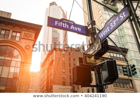 Traffic sign in New York Stock photo © simply
