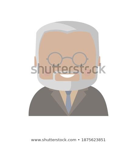 教授 あごひげを生やした 顔 クリップアート 画像 大学 ストックフォト © vectorworks51