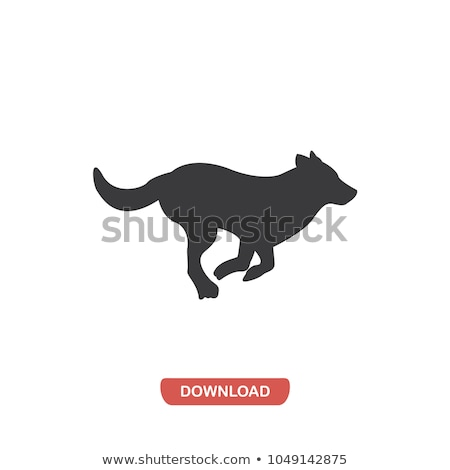 Running dog vector illustration clip-art image Stock photo © vectorworks51