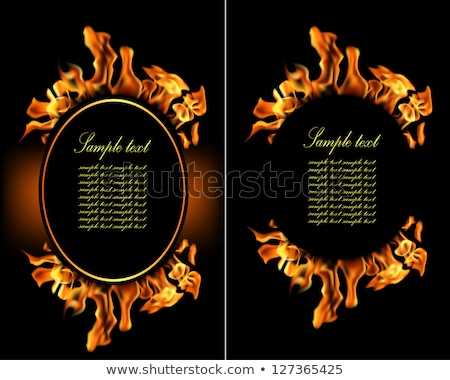 fire flame frame template eps 10 stock photo © beholdereye