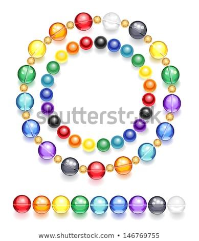Nyaklánc tarka gyöngyök kettő átlátszó színes Stock fotó © blackmoon979