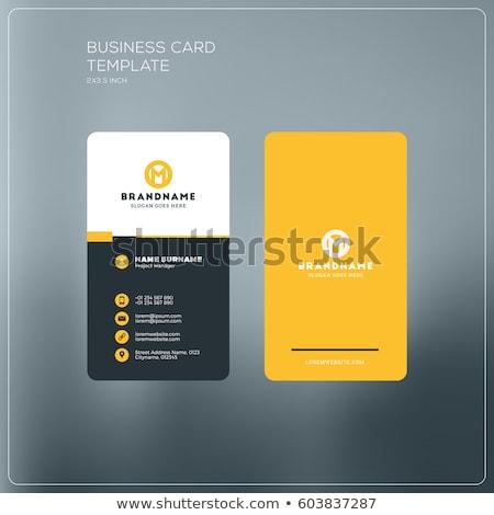 Zwarte visitekaartje ontwerpsjabloon vector ontwerp illustratie Stockfoto © SArts