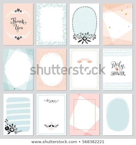 Kártya sablon katicabogarak illusztráció természet háttér Stock fotó © bluering