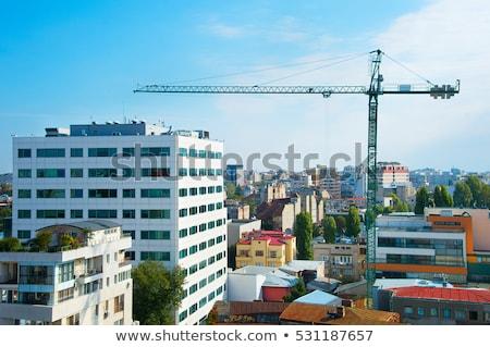 Румыния строительство город центр Бухарест Сток-фото © joyr