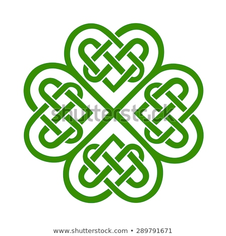 shamrock · celtic · Irlanda · nodo · antica · stile - foto d'archivio © synentchenko