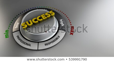 Illustration of Success knob button switch. High confidence level concept. Technical design, managem Stock photo © tussik