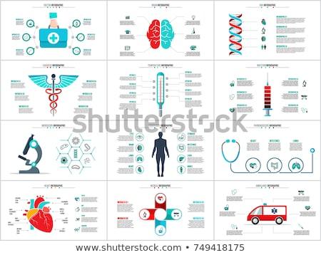 Médico elementos medicina sinais círculo Foto stock © creatOR76