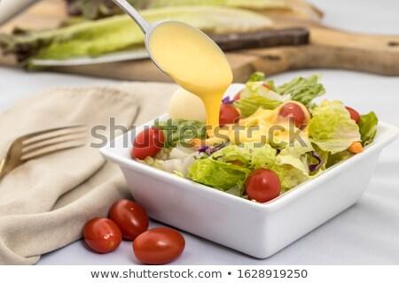 ストックフォト: Bowl Of White Salad Dressing