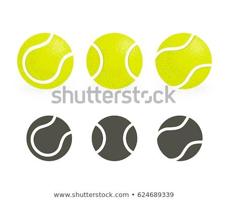 vector flat color tennis ball Stock photo © TRIKONA