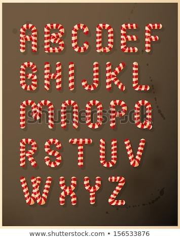 magenta · Rood · brieven · vector · illustratie · geïsoleerd - stockfoto © orensila
