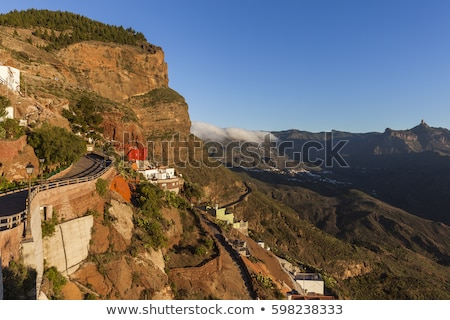 Gran Canaria panorama seen from Artenara Stock photo © benkrut