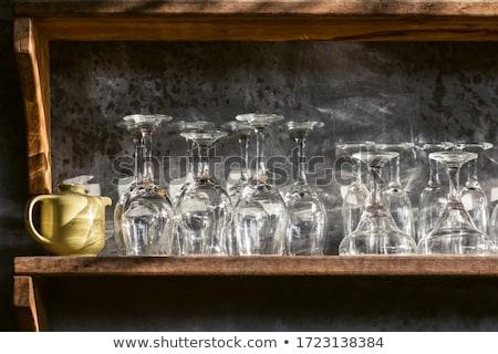 vuota · bicchieri · di · vino · vetro · vino · isolato - foto d'archivio © dolgachov