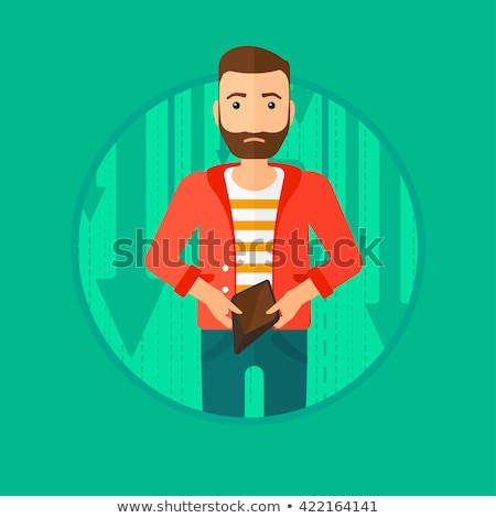 Bancrupt business man vector illustration. Stock photo © RAStudio