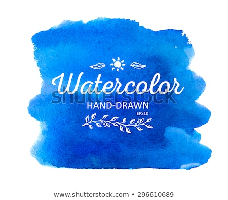 Foto stock: Yellow And Blue Watercolor Stain Vector Banners