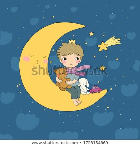 éjfél éjszakai jelenet fiú zenész áll perem Stock fotó © psychoshadow