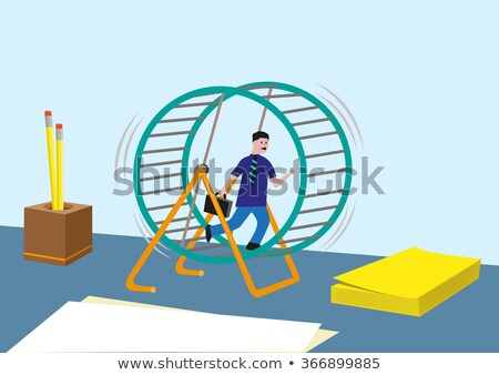 Hamster wiel illustratie dier spel cartoon Stockfoto © adrenalina