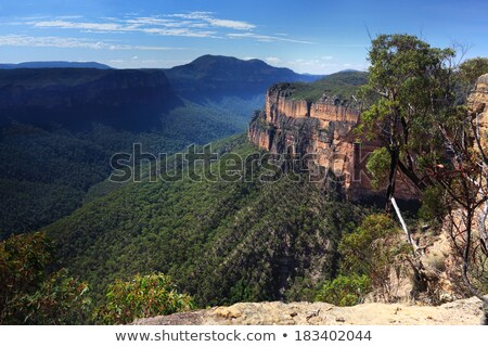 Landscape view of the Grose Valley, NSW, Australia Stock photo © photohome