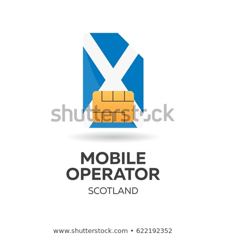 Scotland mobile operator. SIM card with flag. Vector illustration. Stock photo © Leo_Edition