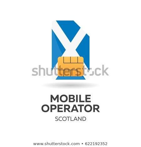 スコットランド · 携帯 · 演算子 · カード · フラグ · 抽象的な - ストックフォト © Leo_Edition