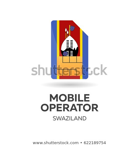 swaziland mobile operator sim card with flag vector illustration stock photo © leo_edition