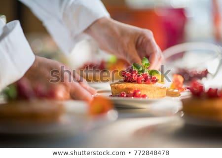 Close-up of garnished food served in plate Stock photo © wavebreak_media