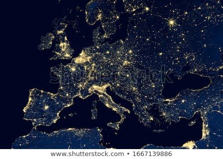 Toprak uzay iletişim ağlar kuzey Stok fotoğraf © timh