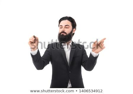 üzletember ír láthatatlan interfész fehér öltöny Stock fotó © wavebreak_media