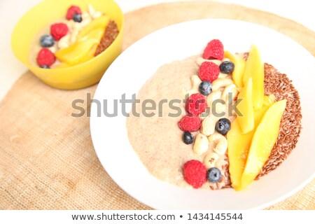 wanilia · cookie · pudding · owoców · żywności · tablicy - zdjęcia stock © stephaniefrey