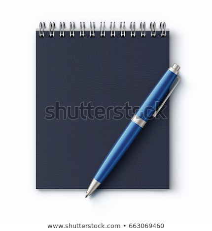 spiral faux leather cover notebook stock photo © oblachko