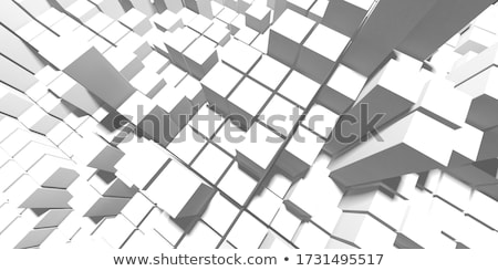 Abstract square mosaic background. 3D rendering Stock photo © user_11870380