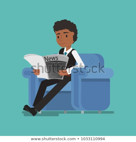 Hindu businessman reading newspaper. Stock photo © RAStudio