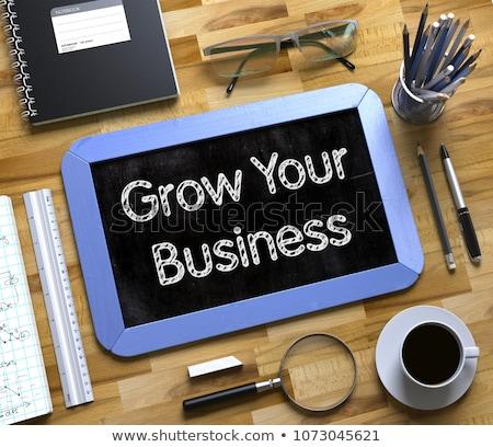 pequeno · quadro-negro · produtividade · 3D · negócio - foto stock © tashatuvango