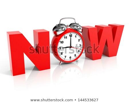act fast   wording on watch 3d stock photo © tashatuvango