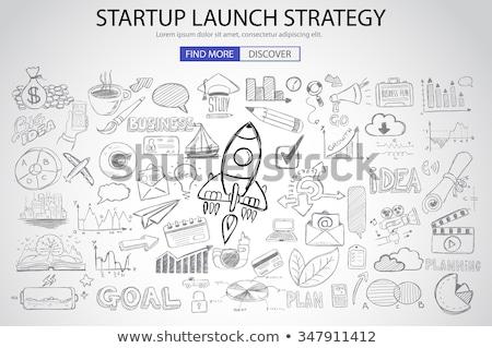 Nieuwe oplossingen doodle ontwerp iconen opschrift Stockfoto © tashatuvango