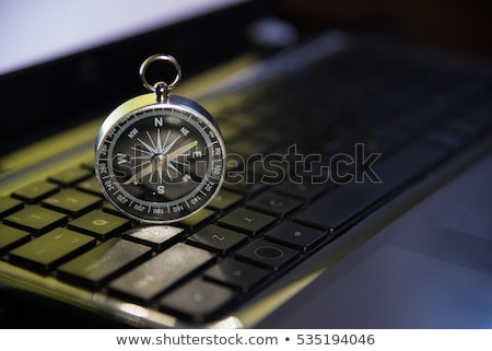 Computer Keyboard and Compass Stock photo © devon