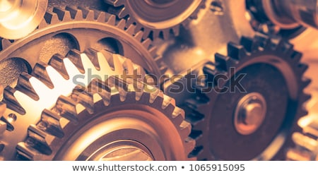 Photo stock: Industrielle · affaires · or · Cog · engins · design