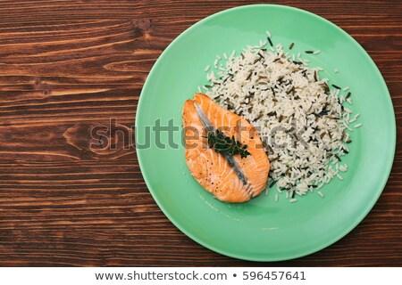 plate of wild rice Stock photo © Digifoodstock