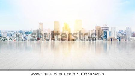 オフィスビル 青空 ビジネス オフィス 建物 市 ストックフォト © JanPietruszka